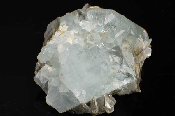 Aquamarine Crystal Cluster with Muscovite Mica (Front View #1) for $889.99 at Mystical Earth Gallery