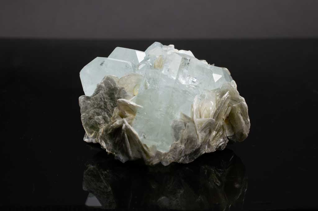 Aquamarine Crystal Cluster with Muscovite Mica (Full View) for $889.99 at Mystical Earth Gallery