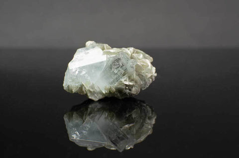 Aquamarine Crystal Cluster with Muscovite Mica (Front View #1) for $94.99 at Mystical Earth Gallery