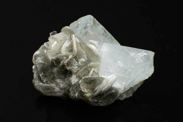 Aquamarine Crystal Cluster with Muscovite Mica (Side View #1) for $94.99 at Mystical Earth Gallery