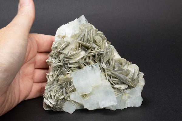 Aquamarine Crystals with Muscovite Mica on Rock Matrix (Size Example) for $1199.99 at Mystical Earth Gallery