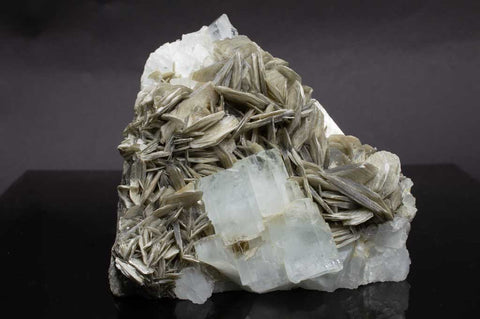 Aquamarine Crystals with Muscovite Mica on Rock Matrix (Full View #1) for $1199.99 at Mystical Earth Gallery