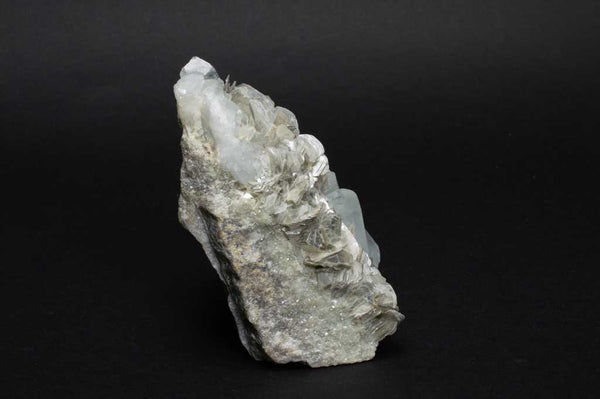 Aquamarine Crystals with Muscovite Mica on Rock Matrix (Side View #1) for $1199.99 at Mystical Earth Gallery
