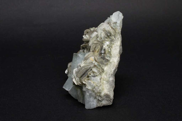 Aquamarine Crystals with Muscovite Mica on Rock Matrix (Side View #2) for $1199.99 at Mystical Earth Gallery