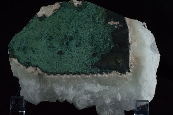 Backside of White Apophyllite Cluster with natural sediment, $79, Mystical Earth Gallery