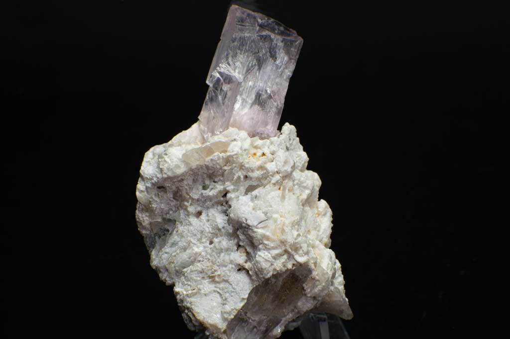 Pale Pink Kunzite Crystal with Feldspar and Quartz Rock Matrix (Front View #1) for $159.99 at Mystical Earth Gallery