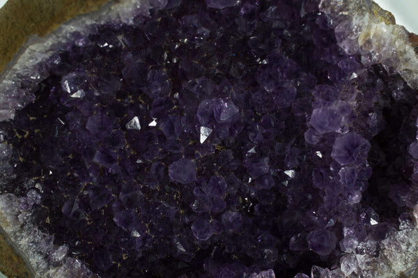 Close up of deep purple amethyst crystals in geode, $99.95 @ Mystical Earth Gallery