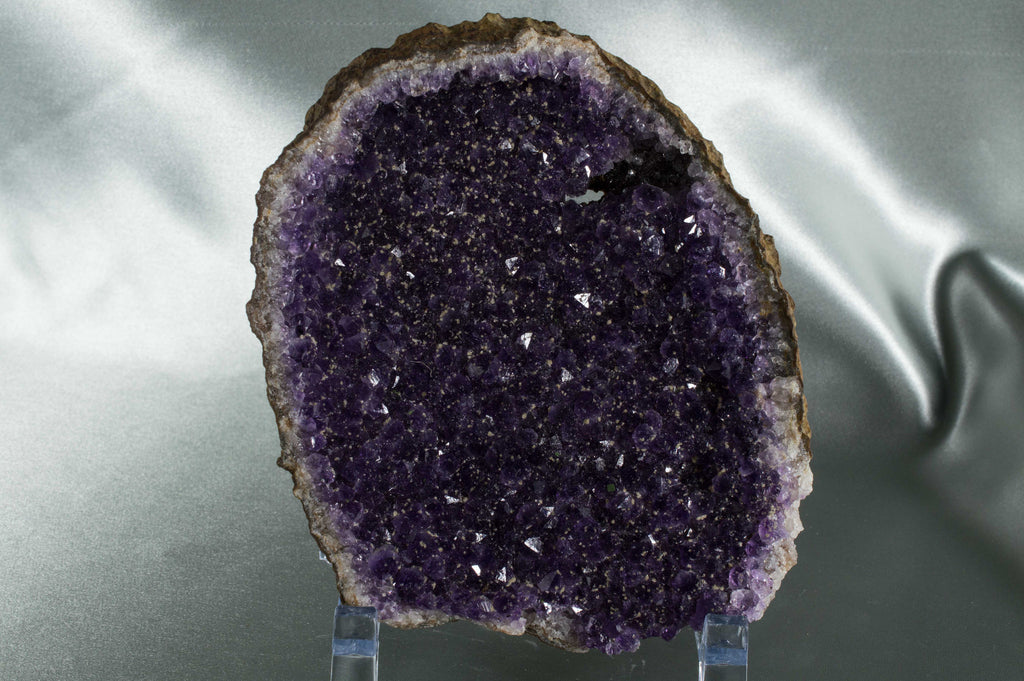 Amethyst Geode with beautiful dark color with sprinkles of Calcite, $99.95 @ Mystical Earth Gallery