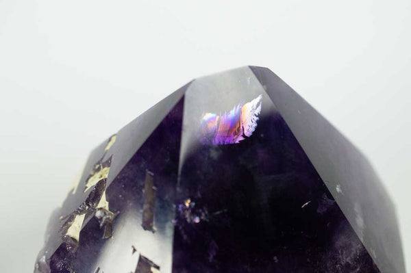Photo of Rainbow at Tip of Amethyst Generator with Dual Phantoms and Rainbow, $890 | Mystical Earth Gallery