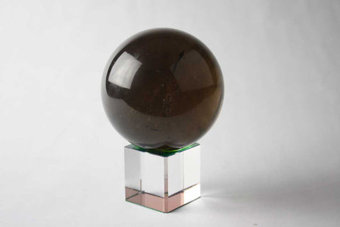 Smoky Smokey Quartz Sphere, Medium Dark, $299 | Mystical Earth Gallery