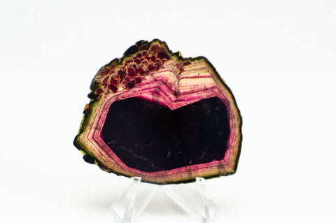 Liddicoatite Tourmaline with Red, Green & Pink Coloring for $799 at Mystical Earth Gallery