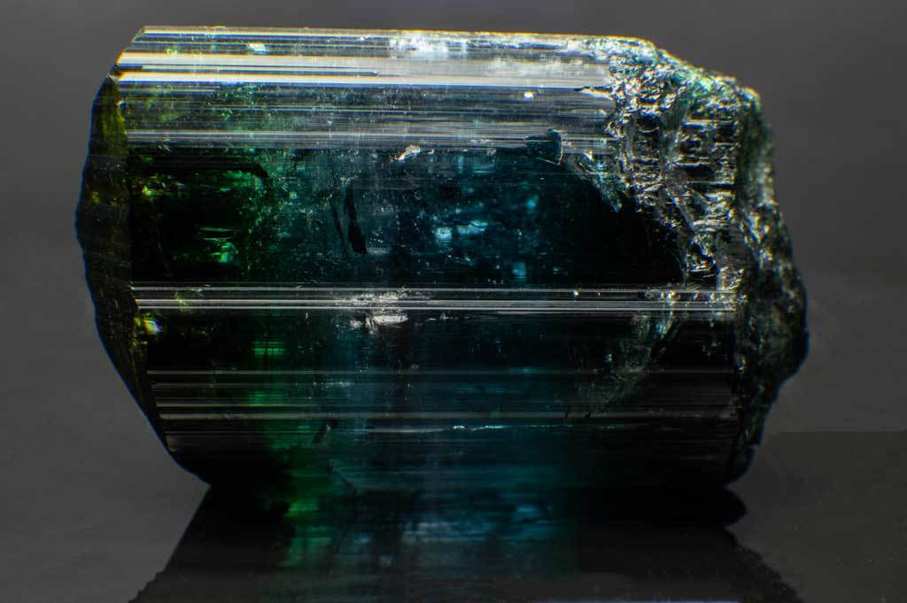 Indicolite Tourmaline with Green, Blue & Violet Sections for $3,599 at Mystical Earth Gallery