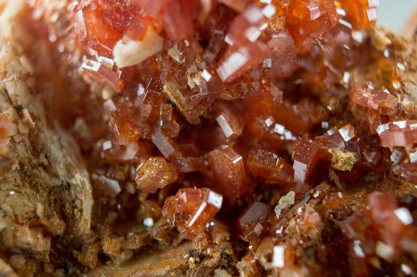 Vanadinite on White & Orange Barite, from Morocco; $139.95 @ Mystical Earth Gallery