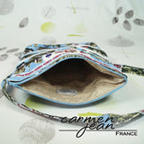 Amber Fold Over Bag - Blue London - Handmade by Carmen Jean