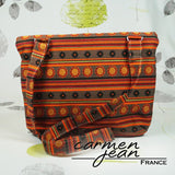 Amber Fold Over Bag - Morocco - Handmade by Carmen Jean