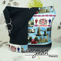 Bonnie Bucket Bag - Blue London - Handmade by Carmen Jean