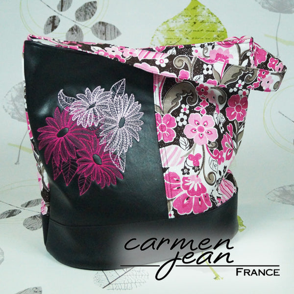 Bonnie Bucket Bag - Four Daisies - Handmade by Carmen Jean