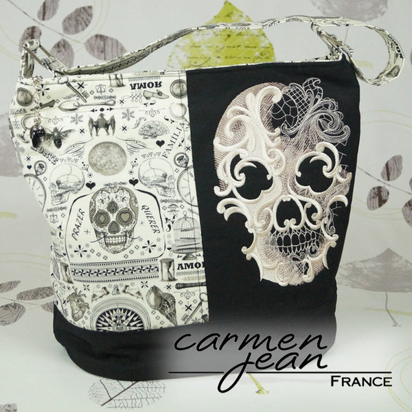 Bonnie Bucket Bag - Morte Skull - Handmade by Carmen Jean
