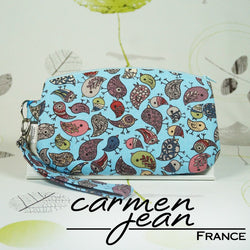 Clutch Bag - Blue Birds - Handmade by Carmen Jean