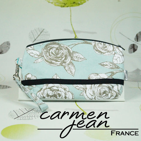 Clutch Bag - Teal Birds - Handmade by Carmen Jean