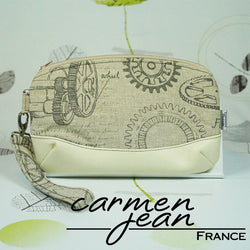 Clutch Bag - Engine Room - Handmade by Carmen Jean