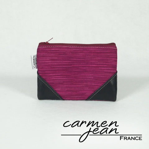 Coin Pouch Pro - Burgundy & Rose