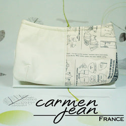 Clutch Bag - Half Sewing Pattern - Handmade by Carmen Jean