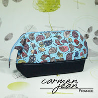 Emmaline Bag - Blue Birds - with Frame - Handmade by Carmen Jean