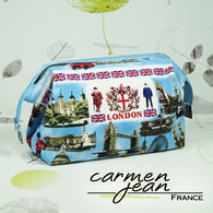 Emmaline Bag - Blue London - with Frame - Handmade by Carmen Jean