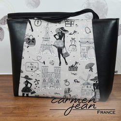 Everyday Tote Bag - Moi Paris - Handmade by Carmen Jean