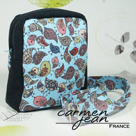 Mini Hip Bag - Blue Birds - Handmade by Carmen Jean