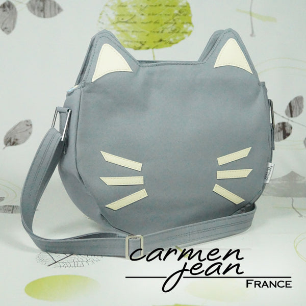Kitty Face Shoulder Bag - Handmade by Carmen Jean