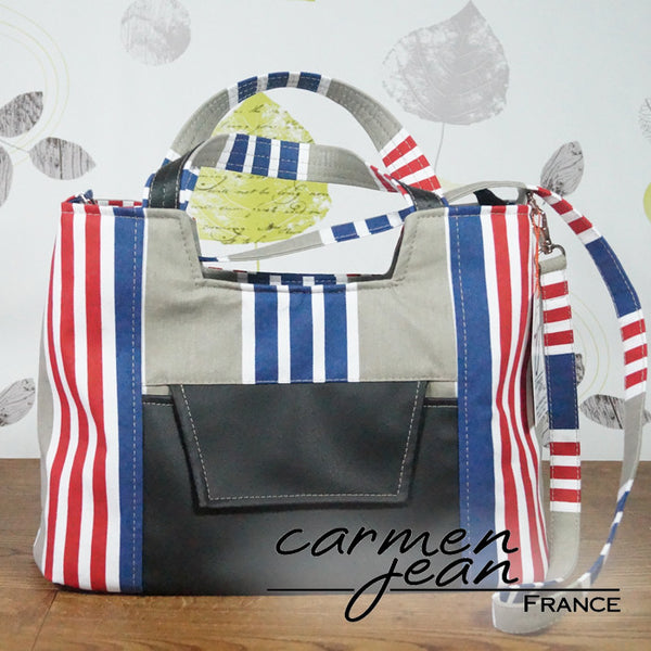 Rose Handbag - Admiral Stripes