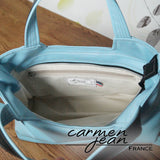 Rose Handbag - Light Blue