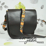 Sandra Saddle Bag - African Jazz - Handmade by Carmen Jean