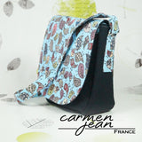 Sandra Saddle Bag - Blue Birds - Handmade by Carmen Jean