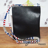 Zip Up Hipster Bag - Admiral Stripes - Handmade by Carmen Jean