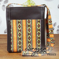 Zip Up Hipster Bag - African Jazz - Handmade by Carmen Jean