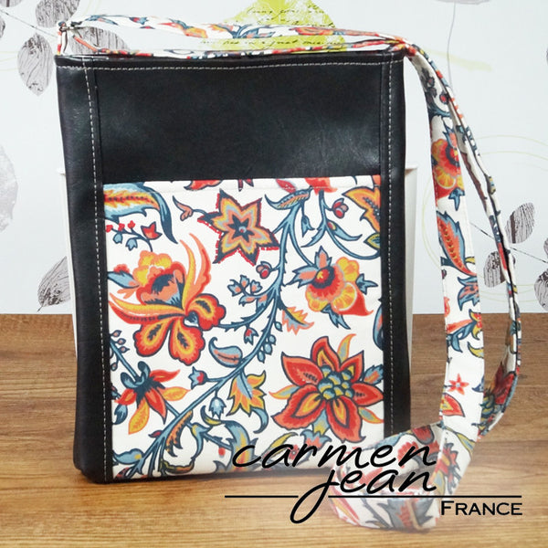 Zip Up Hipster Bag - Laura - Handmade by Carmen Jean