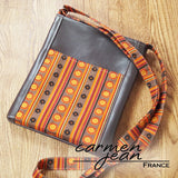 Zip Up Hipster Bag - Morocco - Handmade by Carmen Jean