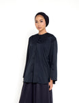 BUTTONED DOWN GADIS TOP (BLACK)