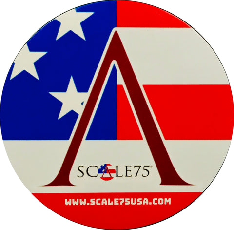 "SCALE75 USA LOGO, 2.5"" ROUND"
