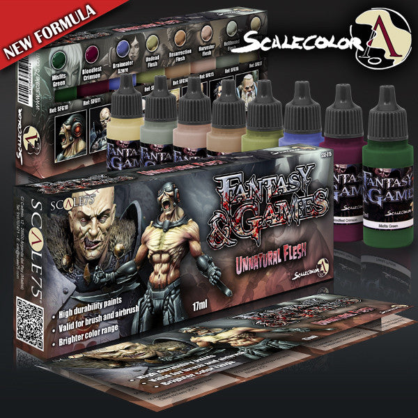 UNNATURAL FLESH PAINT SET