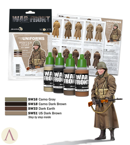 COLORS FOR UNIFORMS - WINTER COAT US ARMY