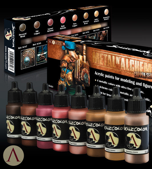 METAL 'N' ALCHEMY COPPER PAINT SET