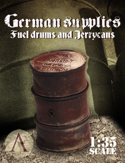 GERMAN SUPPLIES - FUEL DRUMS AND JERRY CANS
