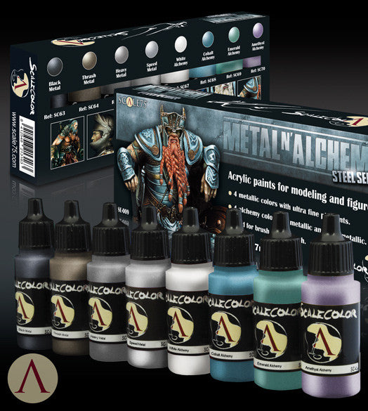 METAL 'N' ALCHEMY STEEL PAINT SET