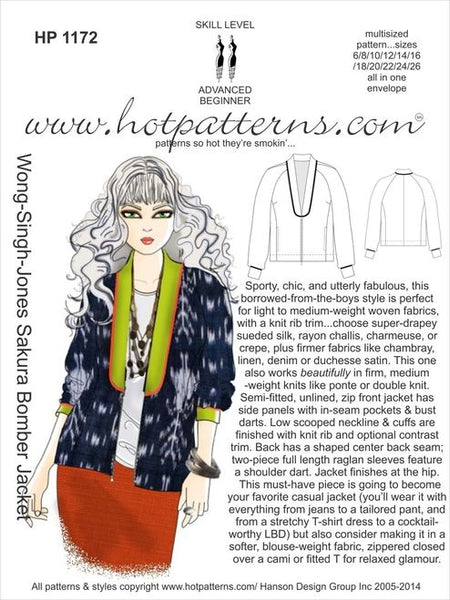 Hot Patterns 1172 - Wong-Singh-Jones Sakura Bomber Jacket