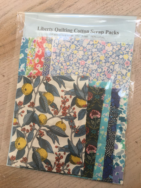 Liberty Quilting Cotton - Scrap Pack 10 piece (15x15cm)
