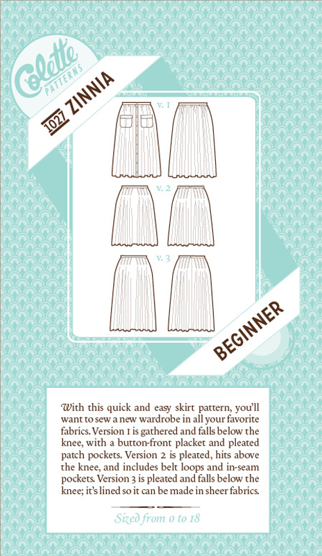 Colette Patterns Zinnia Skirt - 1027